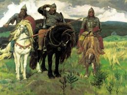 Описание картины В.М. Васнецова: «Три богатыря»