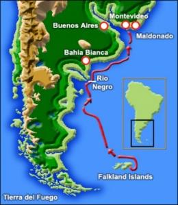 Восточное побережье Южной Америки: Мальдонадо (май — ноябрь 1833 г.)
