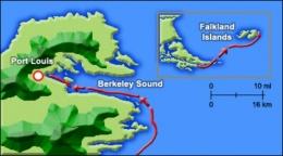 Южная Америка: Фолклендские острова (март — апрель 1883 г.)
