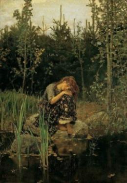 Описание картины В. М. Васнецова «Аленушка»