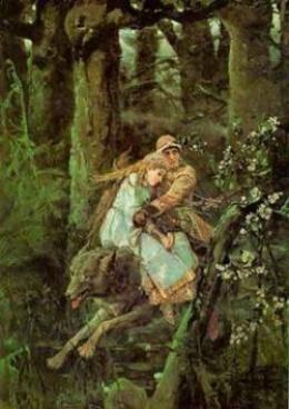 Описание картины В.М. Васнецова: «Иван-царевич на сером волке»